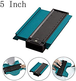 LEDE Professional Plastic Contour Gauge Duplicator Profile Copy Gauge Contour Gauge Duplicator Standard Wood Marking Tool Tiling Laminate Tiles General Tools (5 Inch, Green)