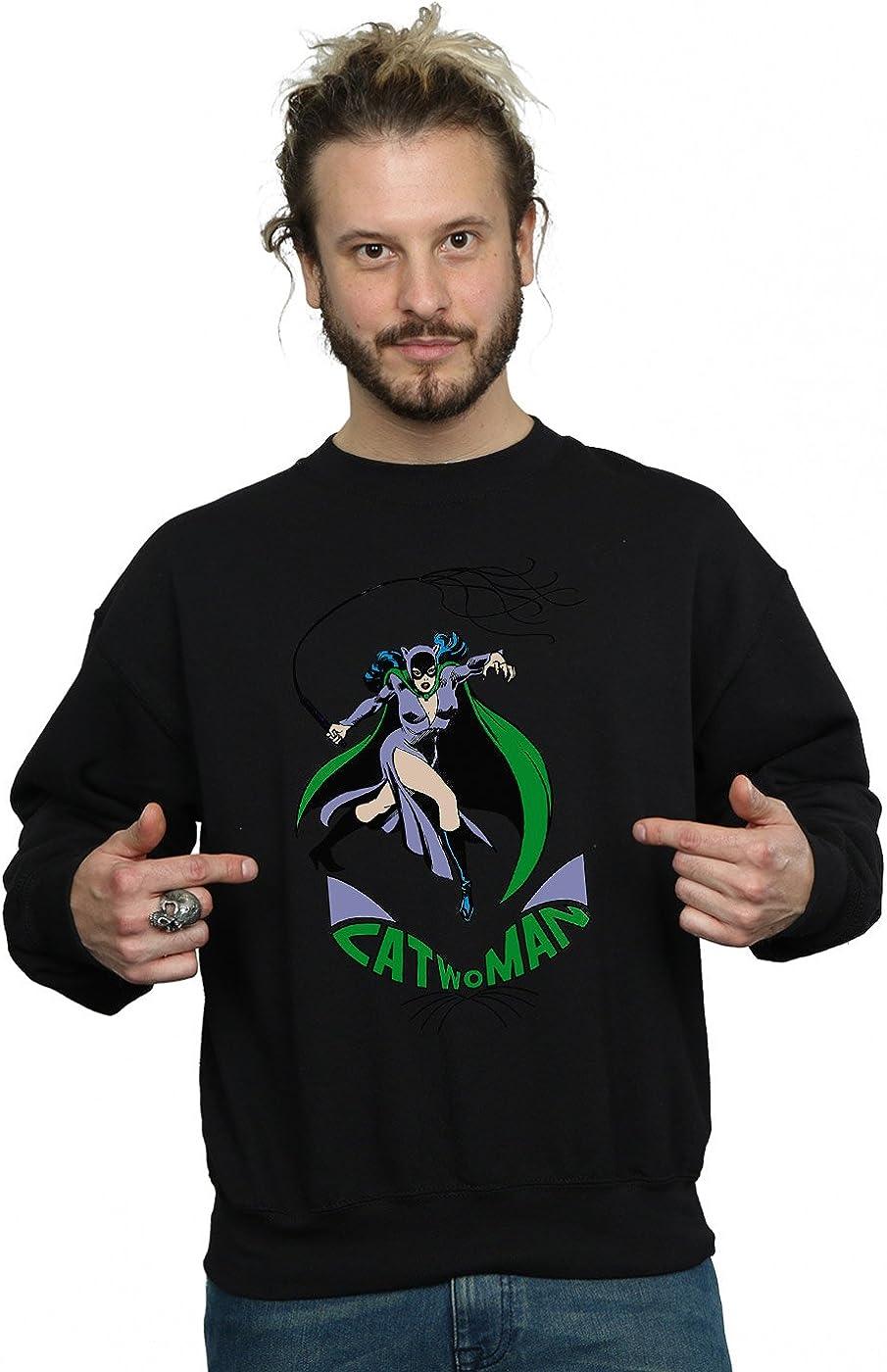 DC Comics Men's Catwoman Whip Sweatshirt