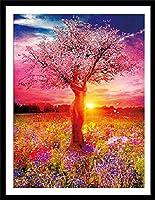 クロスステッチ 刺繍キット 布地に図柄印刷 生命樹