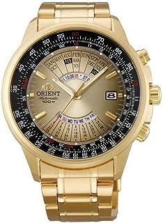Orient Perpetual Calendar World Time Automatic Gold Dial Men's Watch FEU07004UX