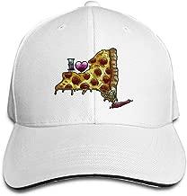 Adult I Love NY Pizza Cotton Lightweight Adjustable Peaked Baseball Cap Sandwich Hat Men Women