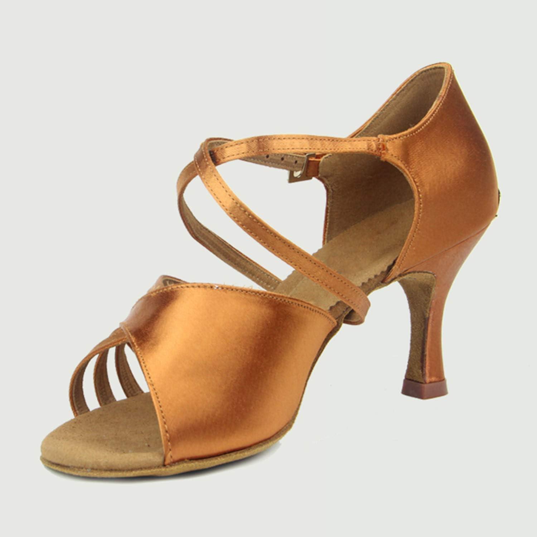 CJJC Latin Latin Latin Dance Schuhe für Damen, einfache Reine Farbe Erwachsene Damen Mädchen Rumba Performance Training Standard Tanzschuhe  605522