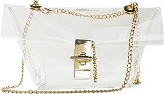Zarapack Damen 'transparent Messenger Schultertasche mit Hologramm Tasche