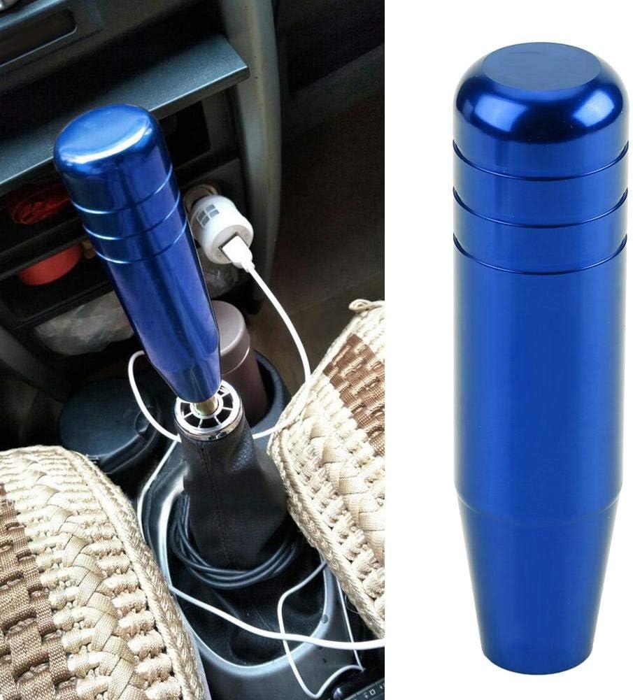 Blue EVGATSAUTO pomello del cambio manuale per auto pomello del cambio manuale leva universale del cambio in lega di alluminio da 13 cm