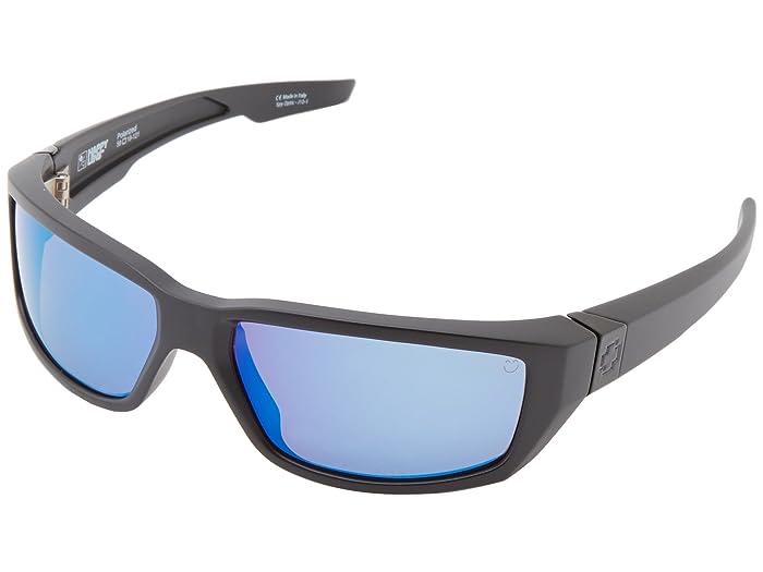 Spy Optic Dirty Mo (Matte Black/Happy Bronze Polar w/ Blue Spectra) Sport Sunglasses