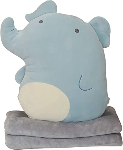 new arrival Plush Pillow Blanket Set Soft 2021 Plush Hugging Pillow with Coarl Fleece Blanket Cute Anime Throw Pillow Stuffed Animal Doll Toy Girls Boys Gift high quality for Birthday, Valentine, Christmas, Holiday,Portable, 18In outlet online sale