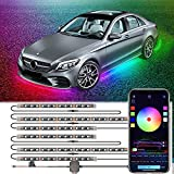 WayToLight Car Underglow Lights with Welcome and Auto-Open Function,6Pcs Bluetooth Underglow kit for Cars with Dream Color, App Control Waterproof 324 LEDs neon underglow Lights kit for SUVs