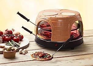 Emerio Pizzaoven, Pizzavaret, PO-116124.1, handgemaakte terracotta kleikap, gepatenteerd design, voor mini-pizza, echt fam...