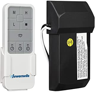 DEWENWILS Ceiling Fan Remote Control Kit with Dimmer Wireless, 3 Speeds Adjustable Countdown, LED Compatible Dimmable, 3 in 1 Function Replacement of Universal Motor Ceiling Fan with Light, UL Listed