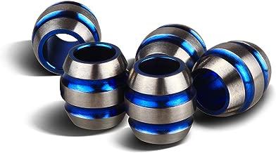 TI-EDC 5PCS Titanium 11mm Knife/Zipper Pull Jewelry Paracord/Lanyard Beads (Blue)