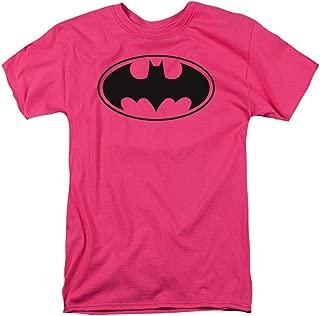 Pink Batman Logo T Shirt & Stickers