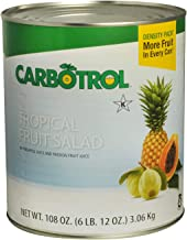 Carbotrol #10 Juice Packed Canned Fruit, Tropical Fruit Salad (1 - 104oz Can)
