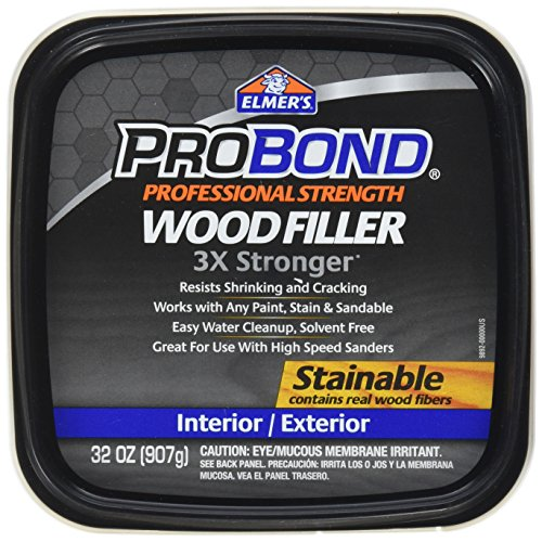 Elmer's Product P9892 Probond Woodfiller, Brown, 32 Ounce