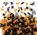 Bimkole Halloween Confetti Table Scatter, Pumpkins Spiders Bats Witches, Throwing Decorations Mix Confetti for Halloween Party Haunted House Favor Decoration Supplies (100g)
