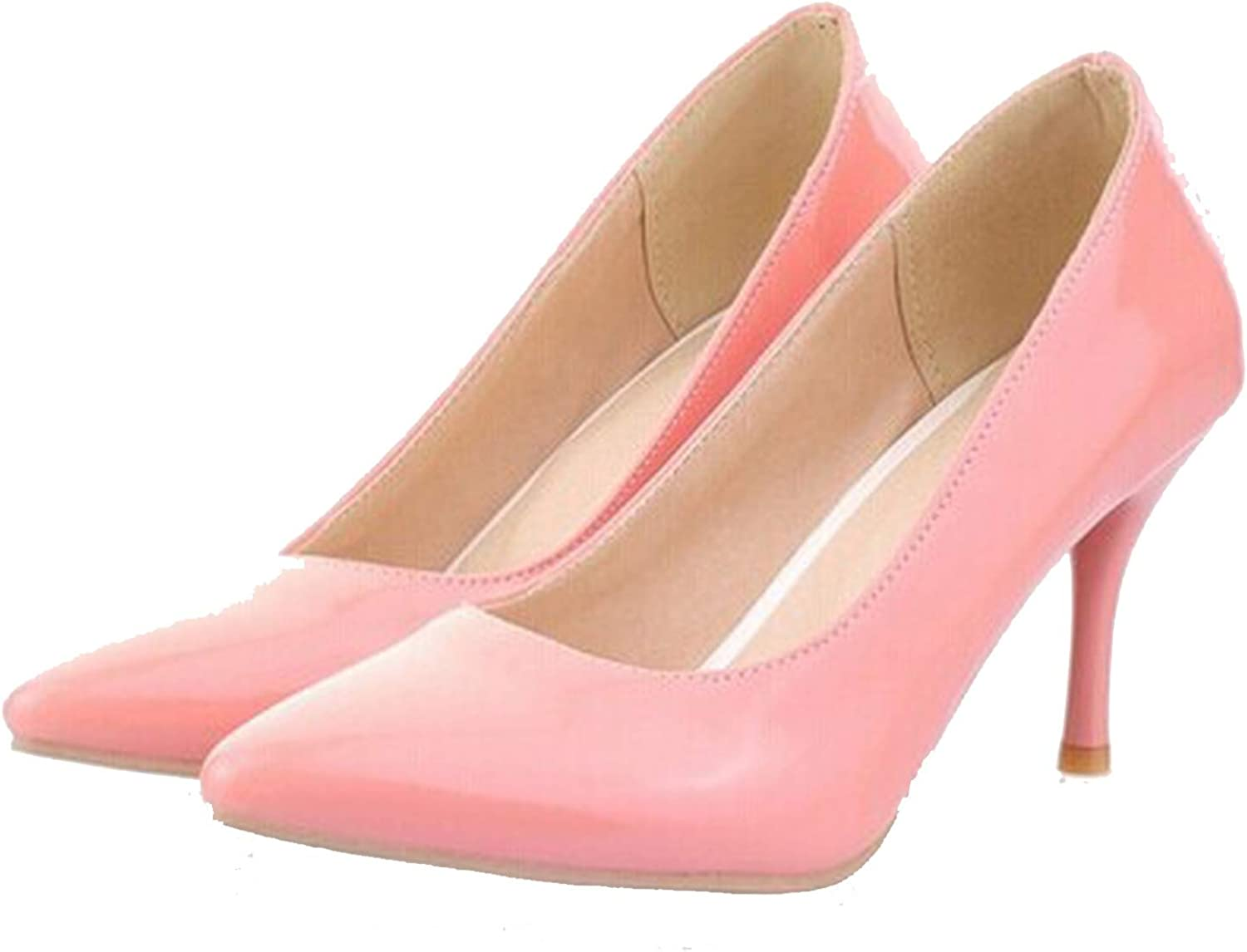 High Heels Women Pumps Thin Heel Classic White red Nude Beige Sexy Ladies Wedding shoes,Pink,6