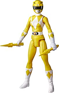 Power Rangers Mighty Morphin Yellow Ranger 12-Inch Action Figure Toy Inspired by Classic Power Rangers TV Show, Power Dagg...