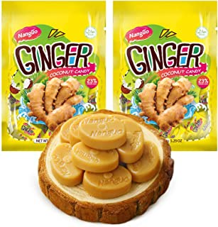 NANGUO Ginger Coconut Candy Bundle, 2 pack 5.29 oz,150g,30pcs From China