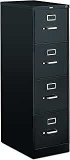 HON 4-Drawer Letter File - Full-Suspension Filing Cabinet with Lock, 52 by 25-Inch Black (H514)