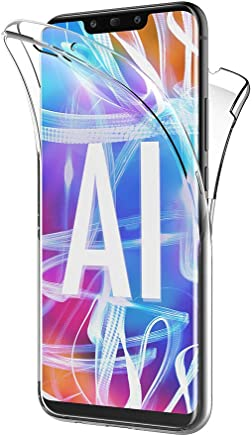 AICEK Coque Huawei Mate 20 Lite, 360°Full Body Transparente Silicone Coque pour Huawei Mate 20 Lite Housse Silicone Etui Case (6,3 Pouces)