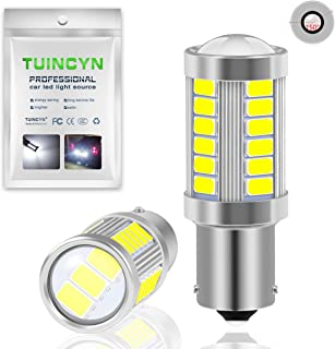 TUINCYN BAU15S PY21W LED Bulb White Brake Light Bulb Super Bright 8000K 5630 33SMD 1156 7507