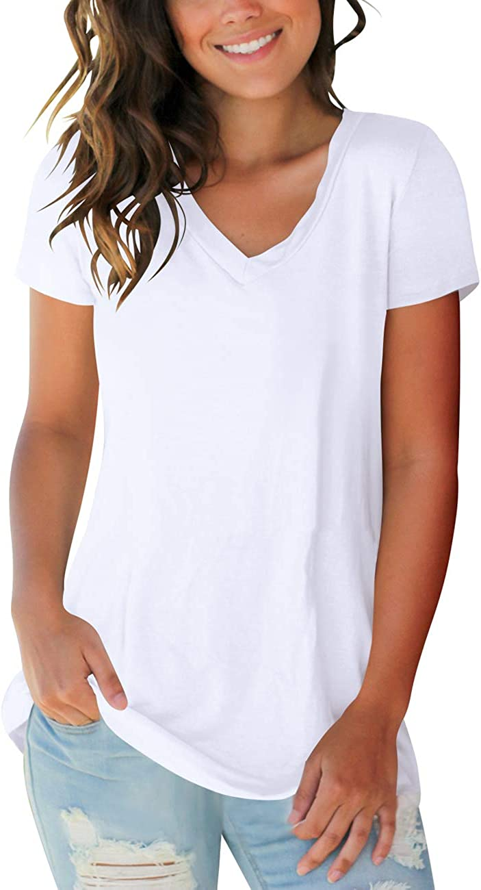 Womens Tops V Neck Tee Casual Max 54% OFF and Shi T Short Sleeve Ranking TOP13 Long