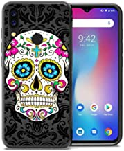 for Umidigi Power Case, ABLOOMBOX Shockproof Slim Thin Soft Flexible TPU Silicone Protective Cover for Umidigi Power Paisley Black Seamless Floral