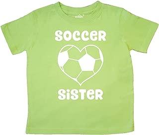 Heart Soccer Sister Toddler T-Shirt
