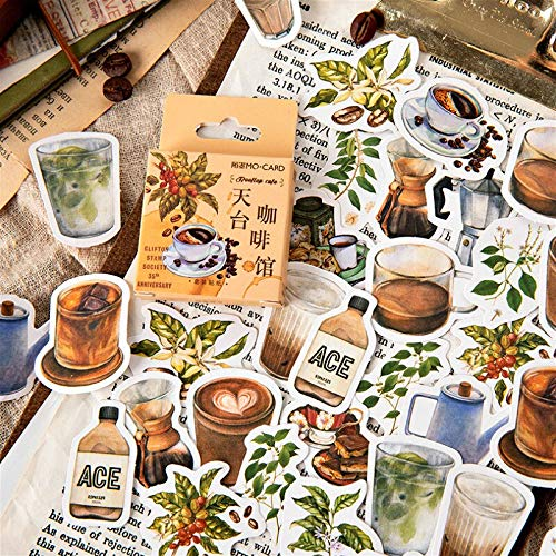 (42 Styles Can Choose) Drinks Stickers Boxed Stickers DIY Scrapbooking Paper Diary Planner Album Vintage Seal Decoration