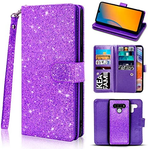 Newseego Compatible LG Stylo 6 Leather Case 6 8inch Glitter Faux PU Leather Magnetic Closure product image