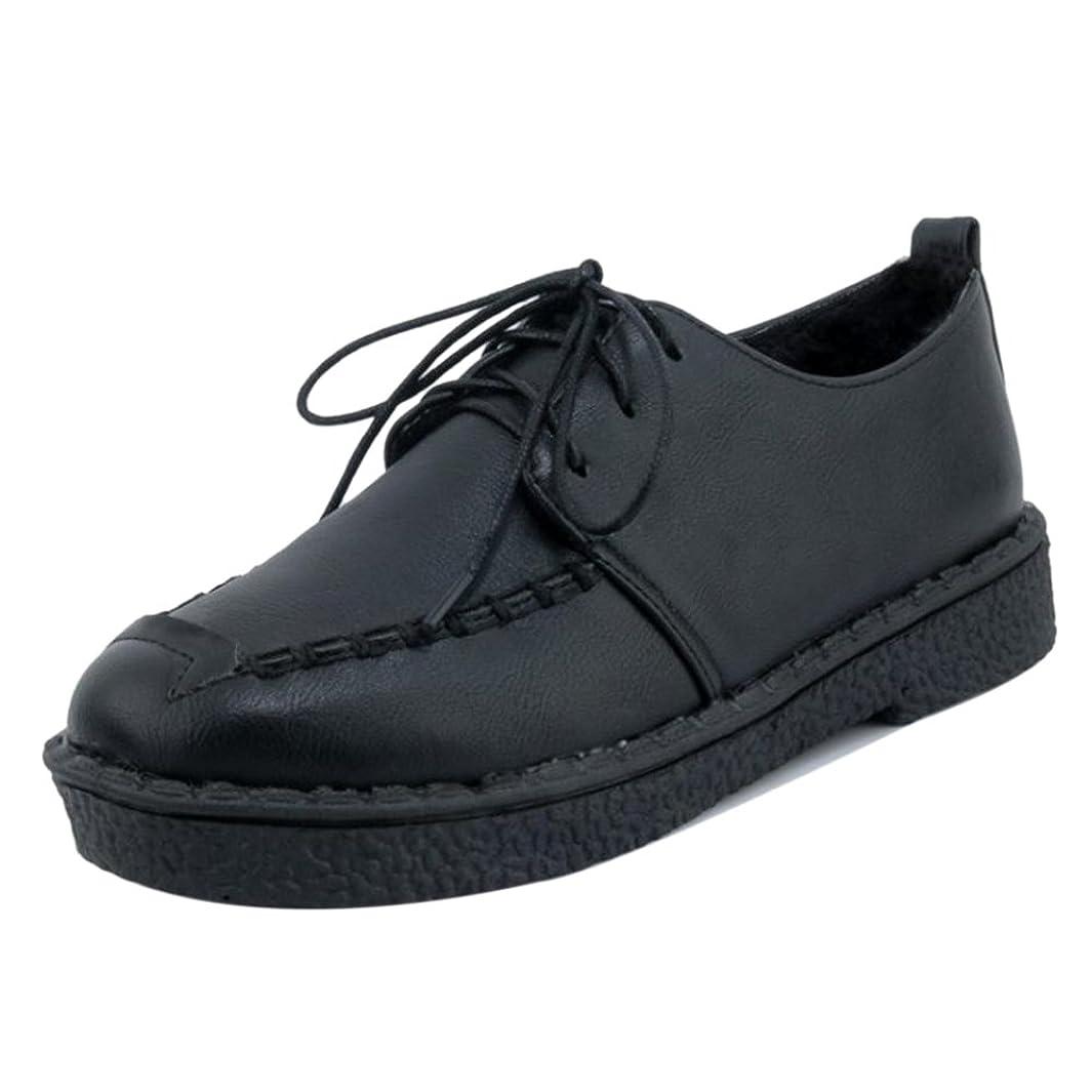 デッキスツール型COOLCEPT レディース カジュアル レースアップ シューズ 学生靴 大きい/小さいサイズ