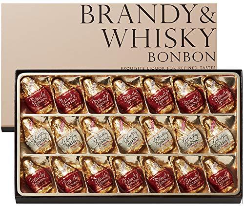 ブランデー&ウイスキーボンボン IZZZ MO-1861 21個 モロゾフ (ブランデーボンボン14個、ウイスキーボンボン7個)