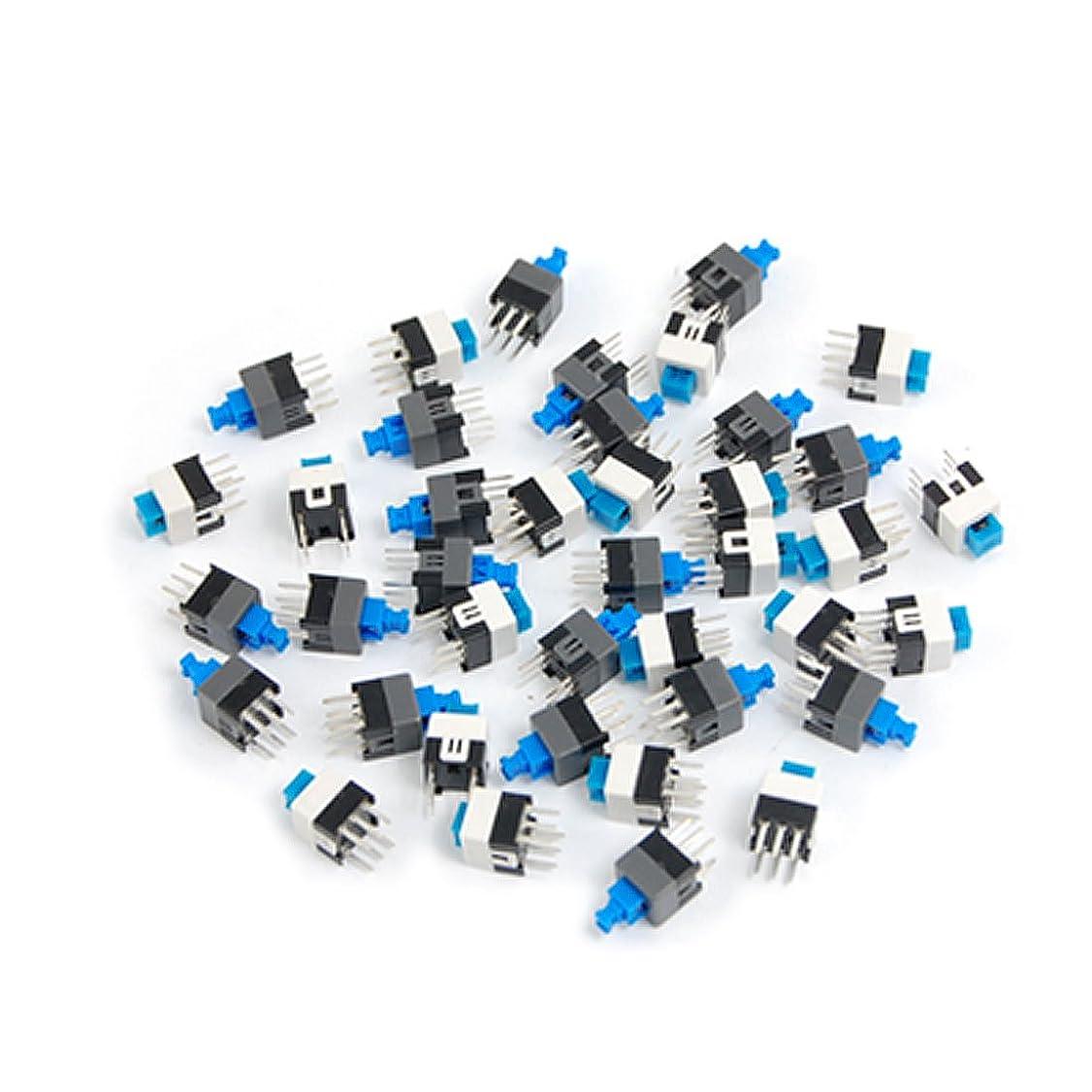 ジョージスティーブンソンティッシュセグメントuxcell タクトスイッチ ミニスイッチ PCB 触覚 プッシュボタン セルフロック 6ピンDIP 7 x 7mm 40個