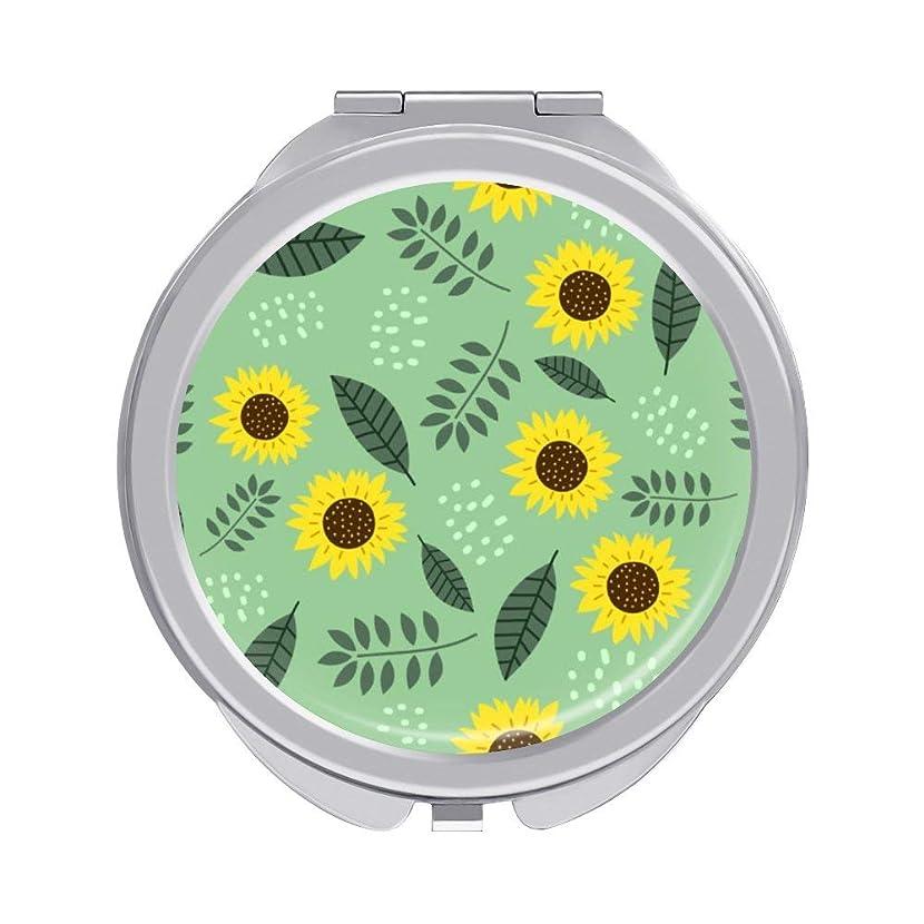 サポート傑出したペルセウス化粧鏡 ひまわりかわいい 折りたたみ式 携帯ミラー 化粧ミラー ポケットミラー 両面鏡 コンパクトミラー 便利 ギフト