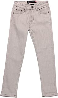 Victorious Boy's Colored Skinny Twill Denim Jeans BS101 - LT. Grey