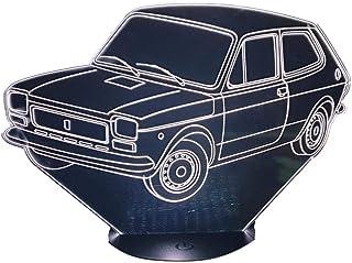 FIAT 127, Lampada illusione 3D con LED - 7 colori.