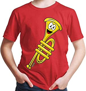 Hariz - Camiseta para niño (incluye tarjeta de regalo), diseño de trompeta