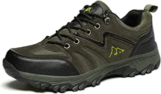 TERIAU Mens Hiking Boots Waterproof Warm High-Top Low-Cut Outdoor Casual Shoes