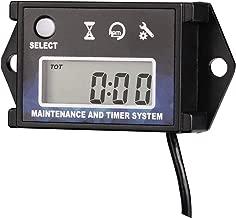 Digital Tach Hour Meter Tachometer - AIMILAR Maintenance Engine Hourmeter for Lawn Mower Snowmobile Boat Motocross Motorcycle Dirtbike Generator Skis Motor Bike Go Kart