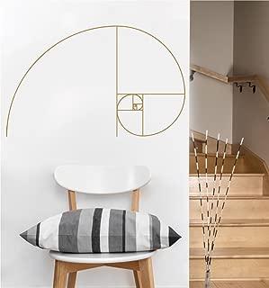 Fibonacci Spiral | Vinyl Wall Decal | Sacred Geometry (Gold Metallic)