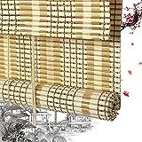 Persiana Enrollable De Bambú Persiana Enrollable Persiana Romana De Bambú Persiana Enrollable De Madera - Persiana De Ventana con Cordón De Tracción Cortina De Ventana Veranda Terraza Casa De Campo