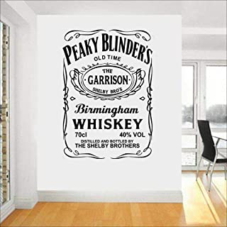 WSYYW Bar Drink Whiskey Wall Sticker Quote Vinyl Restaurant Kitchen Wall Decal Detachable House Decoration Wallpaper Mural Wall Sticker Home Gardening Teal 56X83cm