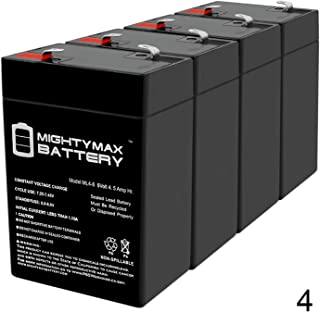 Mighty Max Battery ML4-6 - 6V 4.5AH Replaces Mojo Robo Duck Decoy Game Deer Feeder Battery - 4 Pack Brand Product