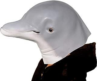 イルカマスク アニマルマスク ラテックス マスク、動物マスク、ハロウィーン マスク、コスチューム・マスク マスク 仮面 仮装パーティー 文化祭 コスプレ イベントなど用 ラテックスマスク