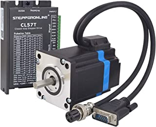 STEPPERONLINE 1 Axis Closed loop Stepper CNC Kit 2 Nm Nema 24 Closed loop Stepper Motor & Stepper Driver & 2 Extension Cable