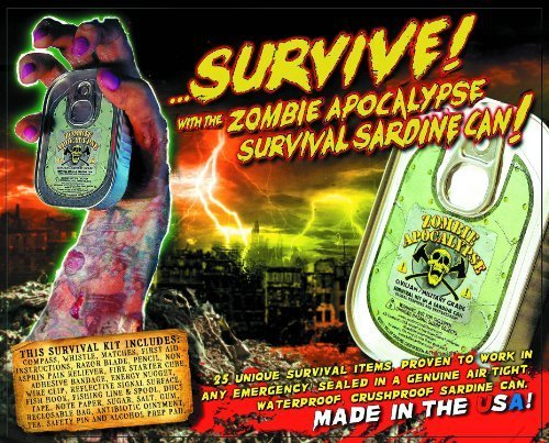 Shape Up, Training Zombie Apocalypse Survival Kit in a Sardine Can Fitness, Sport, Exercise by Sardine Can Giftware