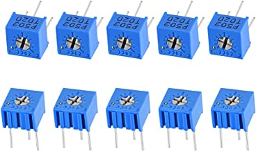 uxcell 3362 Trimmer Potentiometer 50K Ohm Top Adjustment Horizontal Variable Resistors 10Pcs