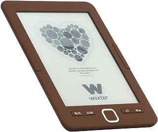 """Woxter E-Book Scriba 195 Chocolate- Lector de Libros electrónicos 6"""" (1024x758, E-Ink Pearl Pantalla más Blanca, EPUB, PDF) Micro SD, Guarda más de 4000 Libros, Textura engomada, Color Chocolate"""