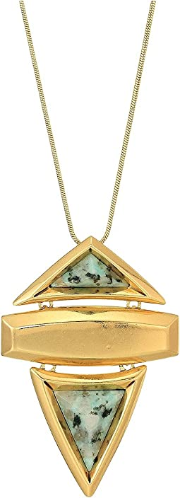 Pyramid Stone Pendant Necklace