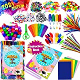 GoodyKing Arts and Crafts Supplies for Kids- D.I.Y. College School Kindergarten Crafting Supply Set Pipe Cleaner - All in One for Kids Age 4 5 6 7 8 9 Years Old Boy Girls