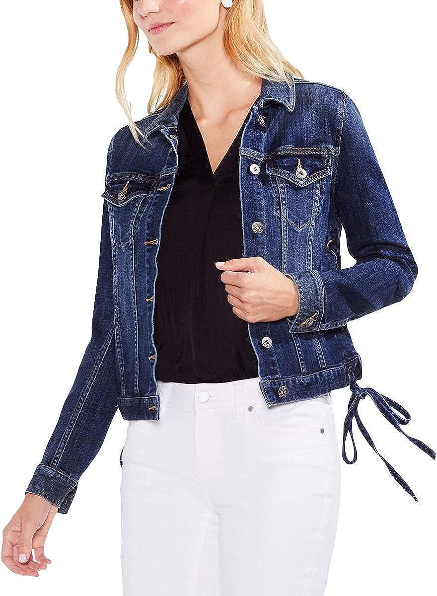 Vince Camuto Women's Lace Up Side Denim Jacket